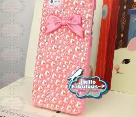 Studded iPhone Case Studded iPhone 5 Case Phone Case Bow iPhone Case Bow iPhone 5 Case Bling iPhone Case Bling iPhone 5 Case