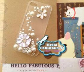 Studded Phone Case Floral Phone Case Rhinestone Phone Case Studded iPhone 4 Case Floral iPhone 4 Case Rhinestone iPhone 4 Case Cover