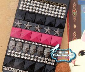 Studded iPhone 4 Case Studded iPhone Case Skull iPhone 4 Case Skull iPhone Case Rhinestone Phone Case Personalized iPhone Case Cover