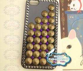 Studded Phone Case Studded iPhone 5 Case Geometric Cell Phone Case Personalized Plastic Case Cover